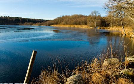 Bysjön, inloppet från Glan