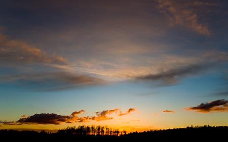 Solnedgång över Åtvidaberg