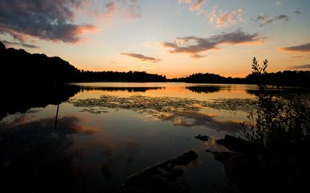 Solnedgång över Bysjön