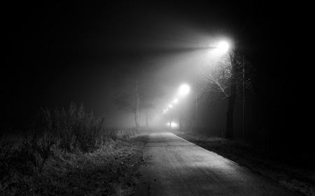 In i dimman och mörkret