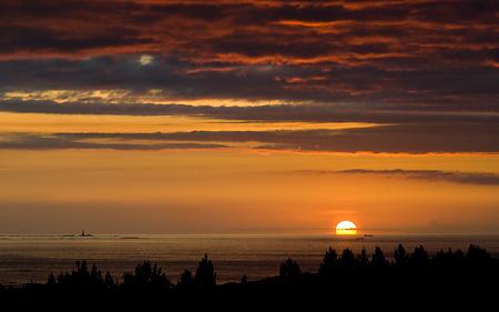 Solnedgång över atlanten